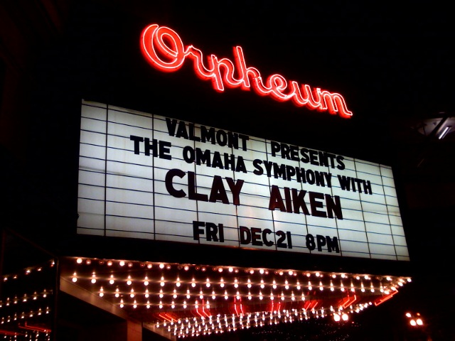 Clay Aiken at the Orpheum